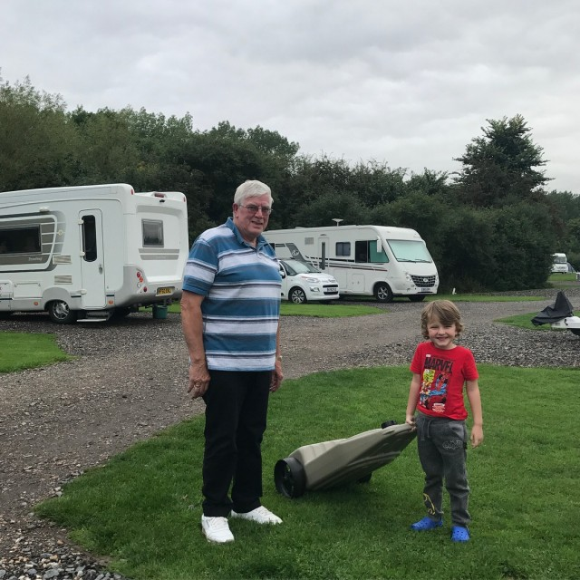 Pickle loved glamping campandcaravan last week and helping his Grandadhellip