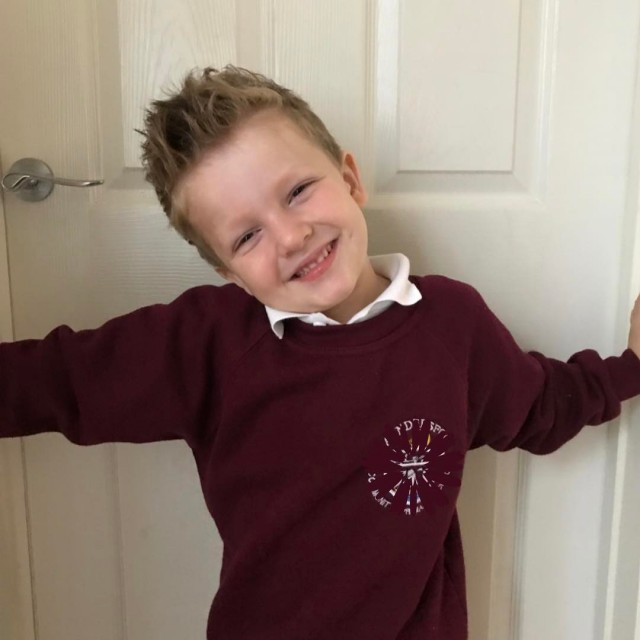 My gorgeous Pickle had his school photo today Big Brohellip