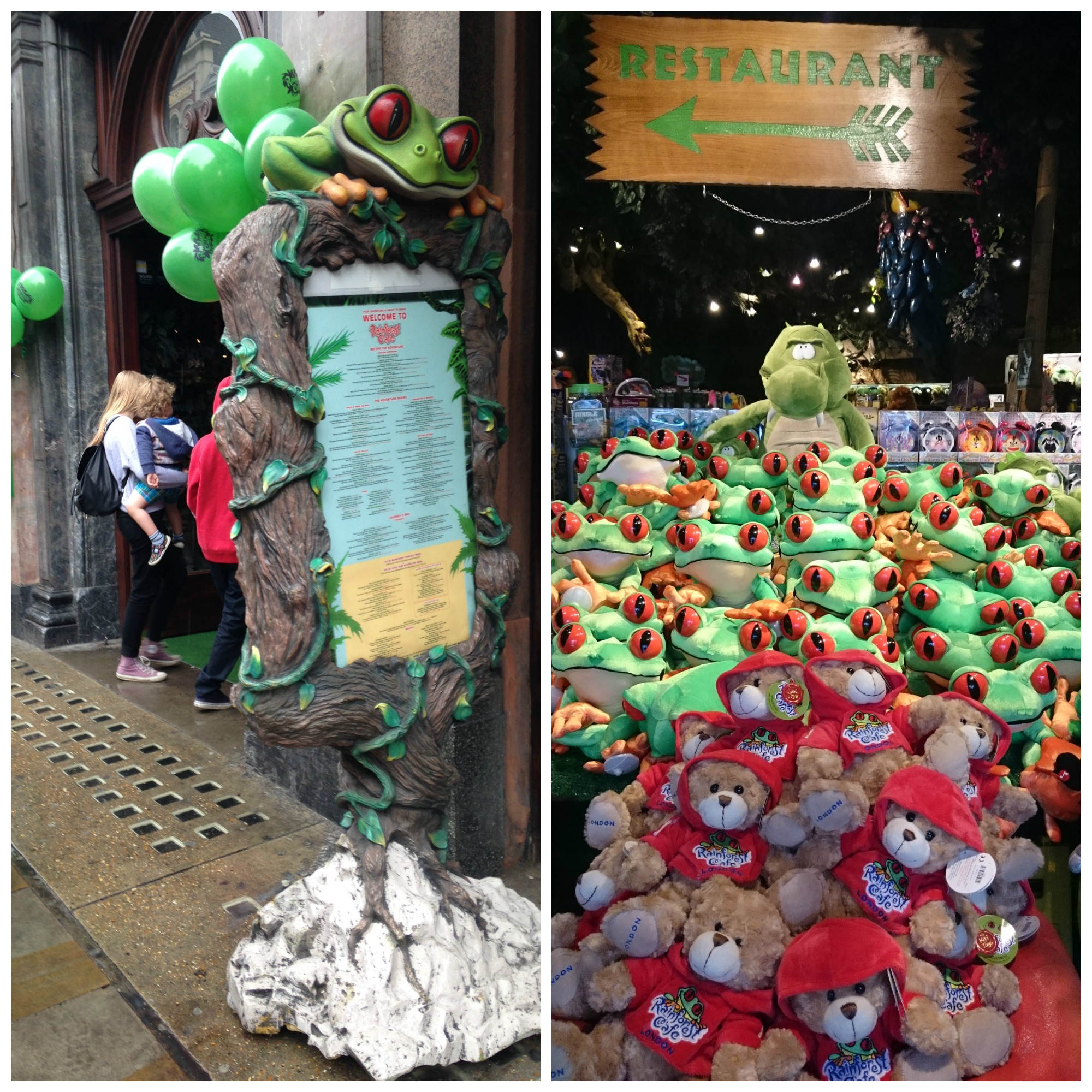 rainforest cafe. I went into the big shop with Mummy, bro and sis. WOW!  Just WOW! All I could see were toy animals everywhere. We walked through  them, ...