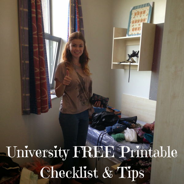 University FREE Printable Checklist & Tips