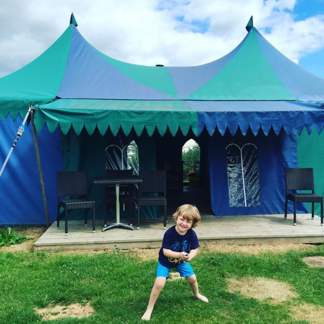 We are loving our Medieval Glamping Tent at devonscrealy itshellip