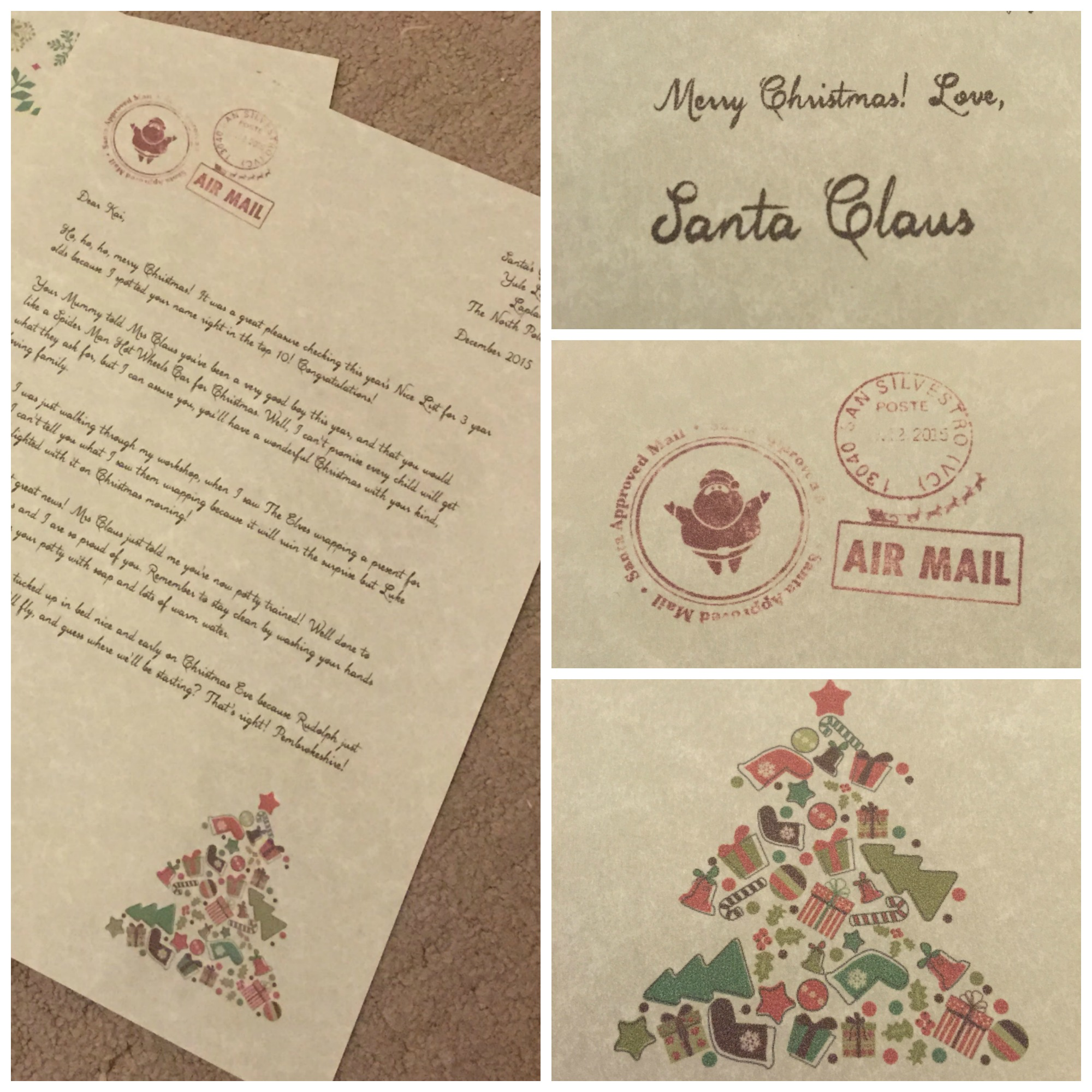 My Letter From Santa Claus  Ickle Pickles Life And Travels
