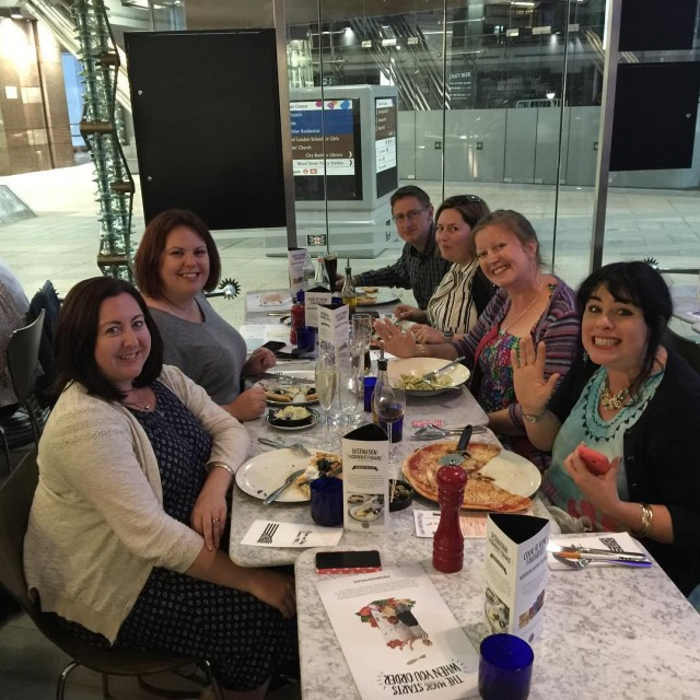 Great meal last night pizzaexpress with some lovely blogger people!hellip