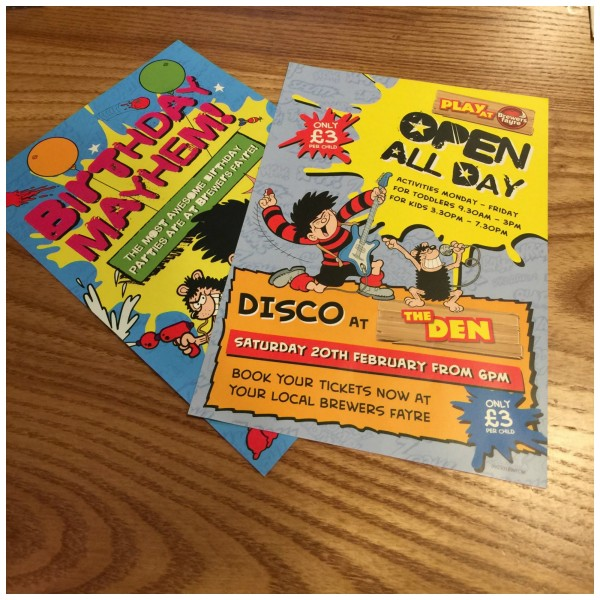 try brewers fayre for half term 10
