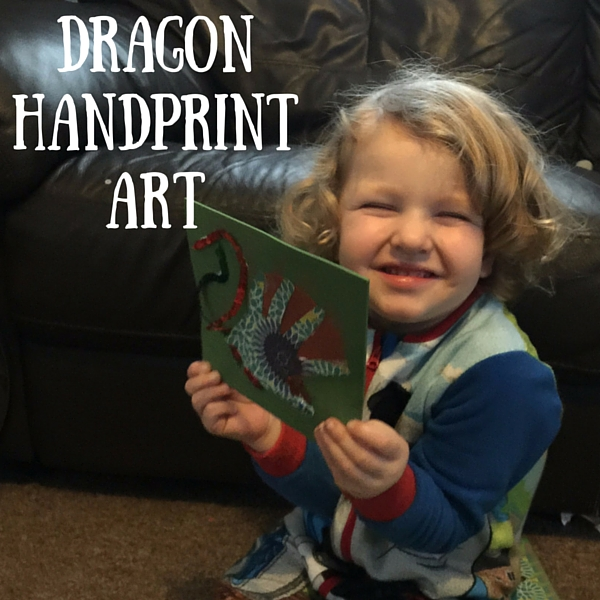 dragon handprint art