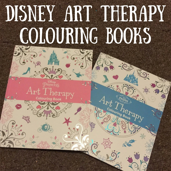 disney art therapy colouring books