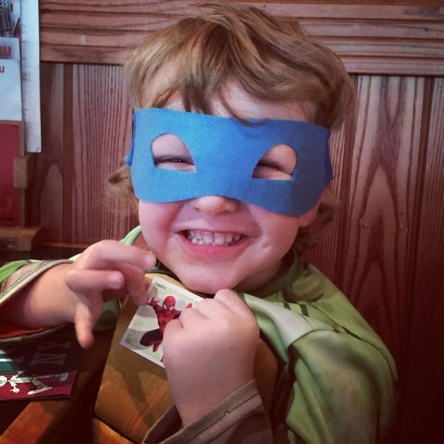 Having lunch frankieandbennys with mummys little ninja turtle as youhellip