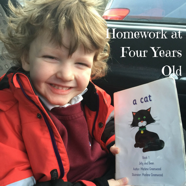 Homework at Four Years Old
