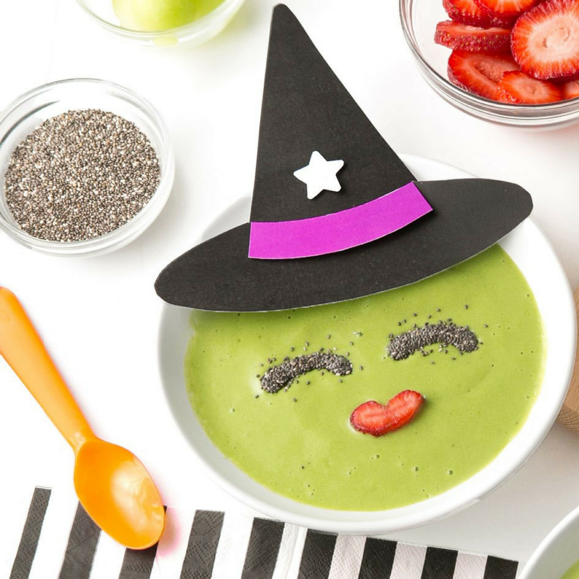Healthy Halloween Smoothie Bowls