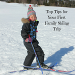 family skiing, child skiing