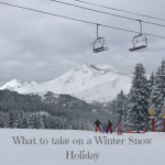 What to take on a Winter Snow Holiday