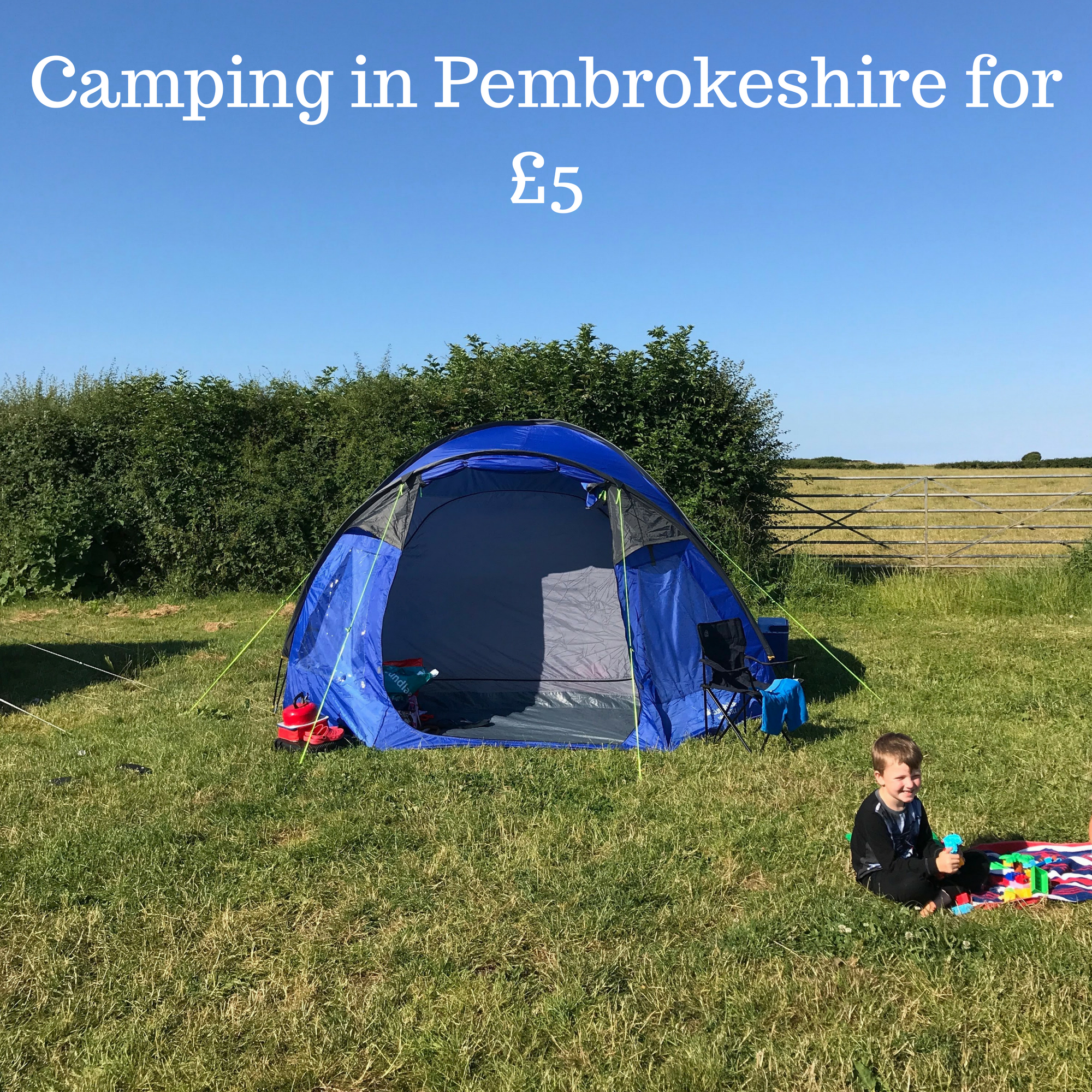 Camping in Pembrokeshire for £5